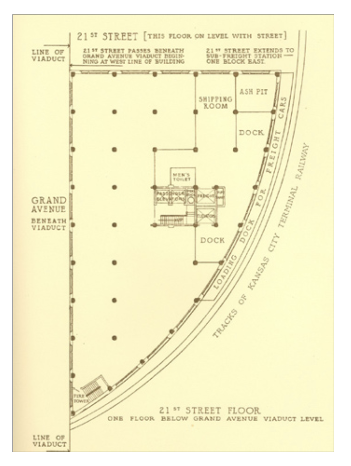 A blueprint of the Coca-Cola building. (Kansas City Public Library | Missouri Valley Special Collections)