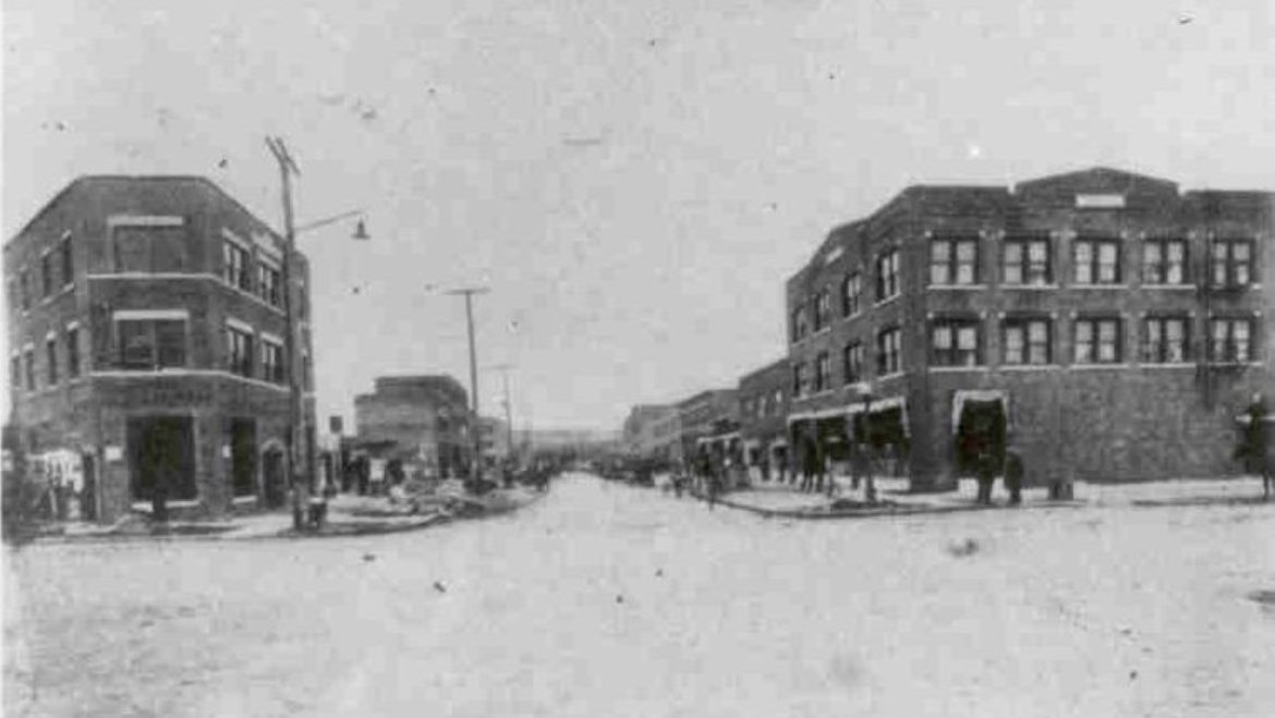 Residents and business operators rebuilt Tulsa's Greenwood district after the 1921 massacre. This photograph dates to about 1925.