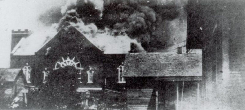 Among the Greenwood landmarks that burned during the 1921 Tulsa race massacre was Mt. Zion Baptist Church.