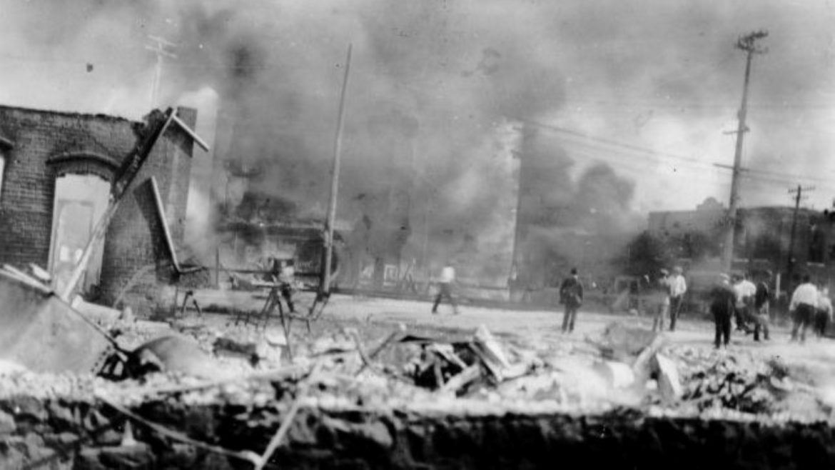 Some Tulsa residents watched fires burn in Tulsa's Greenwood district during the 1921 race massacre.