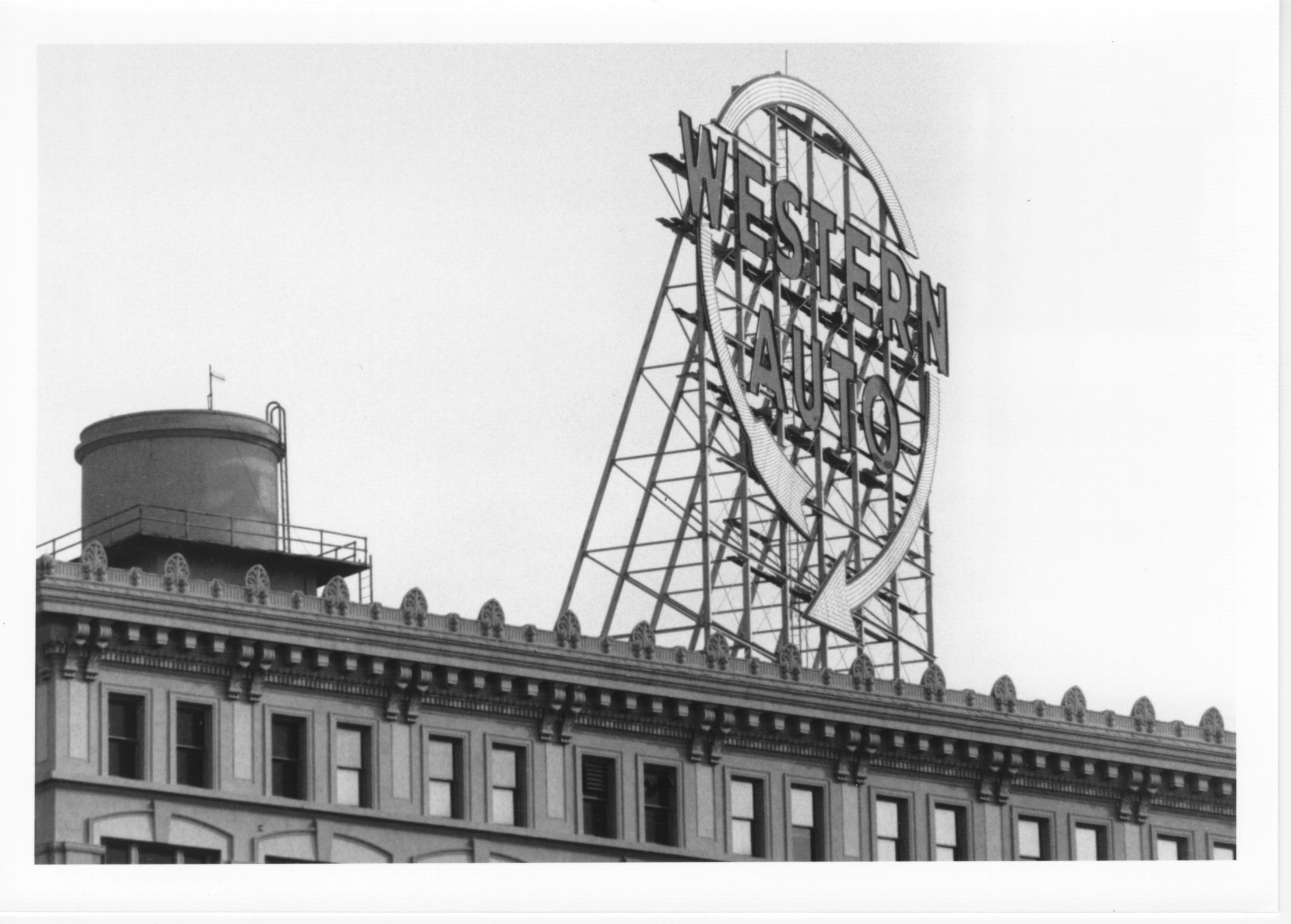 Western Auto sign in 1991. (Kansas City Public Library | Missouri Valley Special Collections)