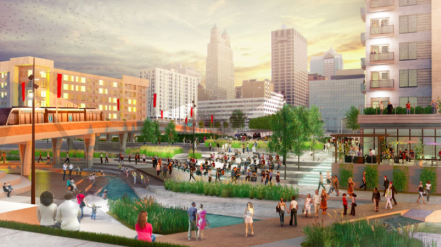 Another image depicting how the River Market could be reconnected with rest of downtown if the North Loop freeway was removed someday.