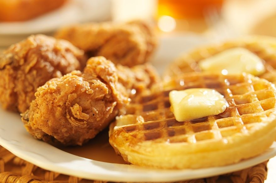 Elevate Bar & Grill in Kansas City, Kansas, is offering buttermilk-dipped chicken strips and waffles as one of its featured items during Black Restaurant Week.