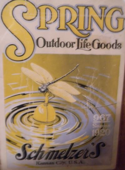 Schmelzer Arms Co., a large sporting goods store in downtown Kansas City, carried a large selection of fishing lures and printed colorful catalogs such as this one made in 1920
