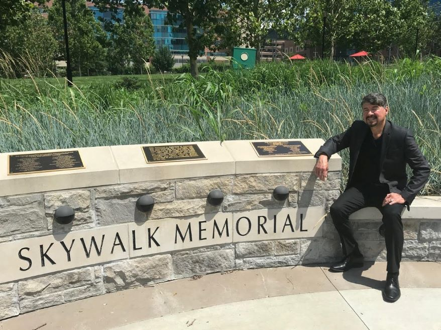 Vincent Ortega was the first Kansas City Police Department officer to arrive at the scene of the Hyatt skywalk collapse.