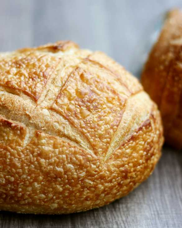 Farm to Market sourdough is available as sliced sandwich bread and as a crusty hearth bread.