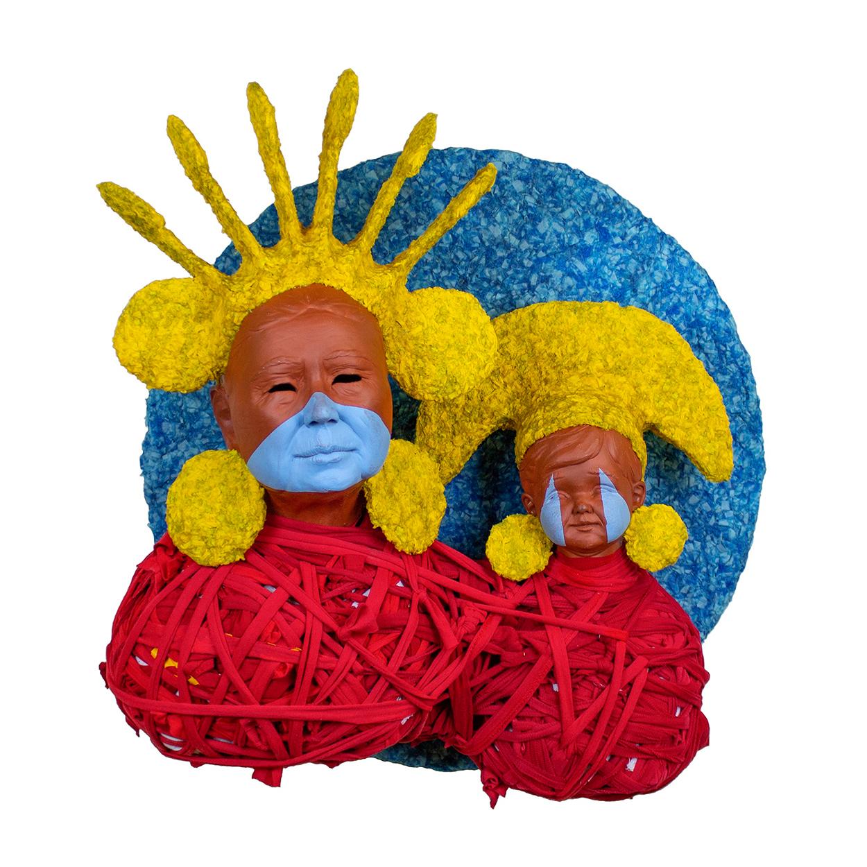 "Jonathan Christensen Caballero's mixed-media installation ""Niño Dorado/Golden Child."" (Contributed)"