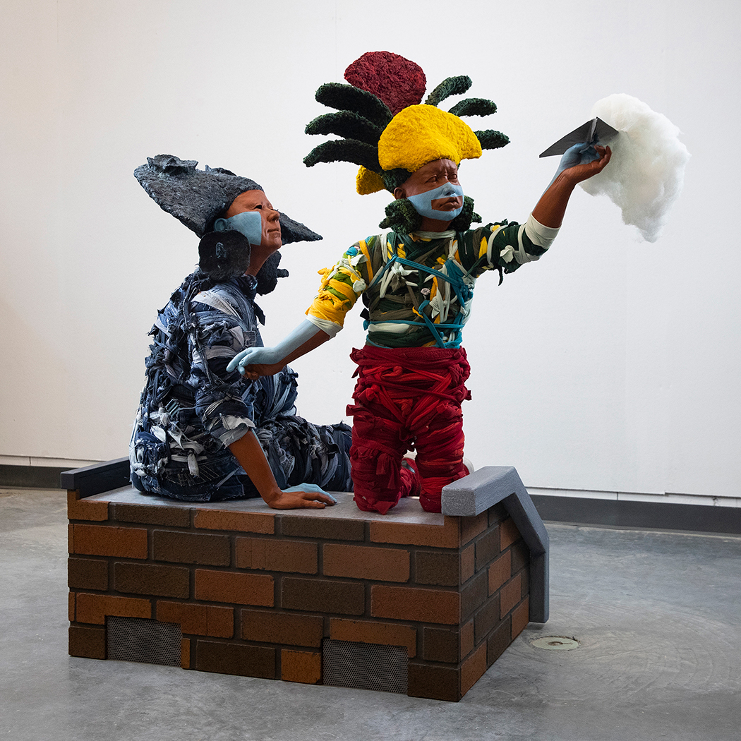 """Christensen Caballero's sculpture work, like this one entitled """"Hijo Mio""""/""""My Son,"""" examines the American Dream and who it is for. (Contributed)"""