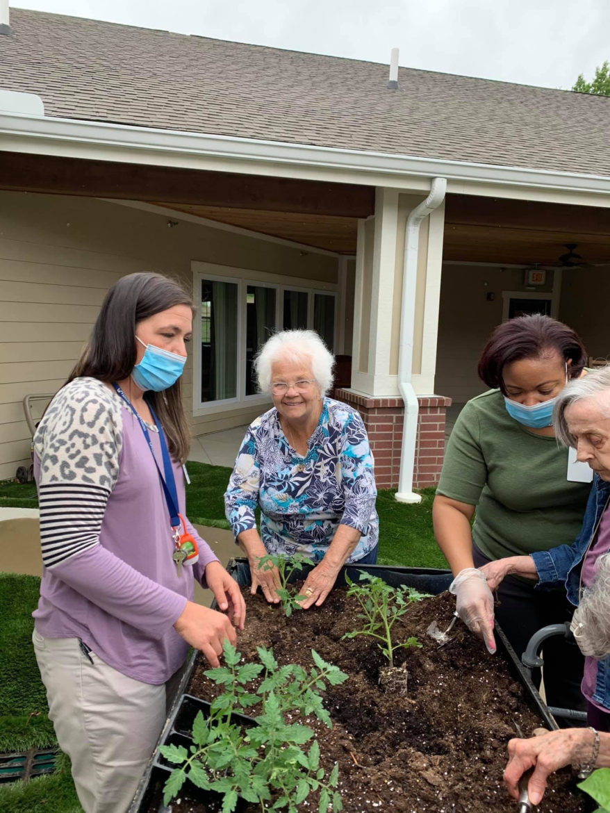 Cross Creek did their best to keep their residents occupied during the pandemic with activities such as gardening. (Contributed)