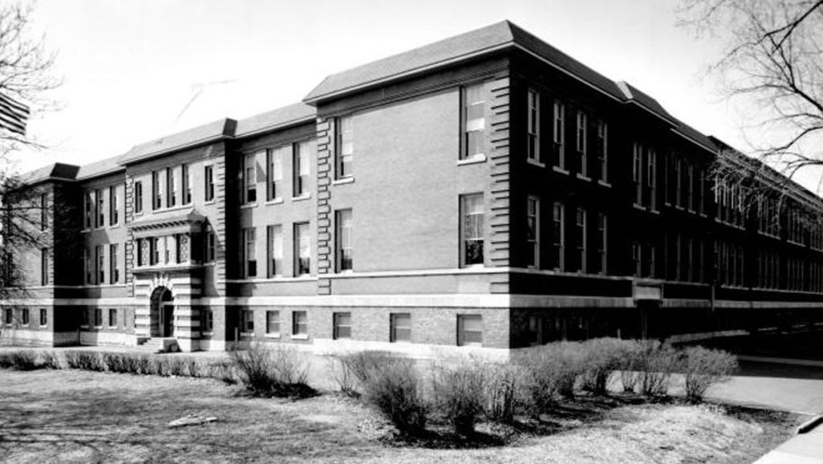 The D.A. Holmes School in 1963