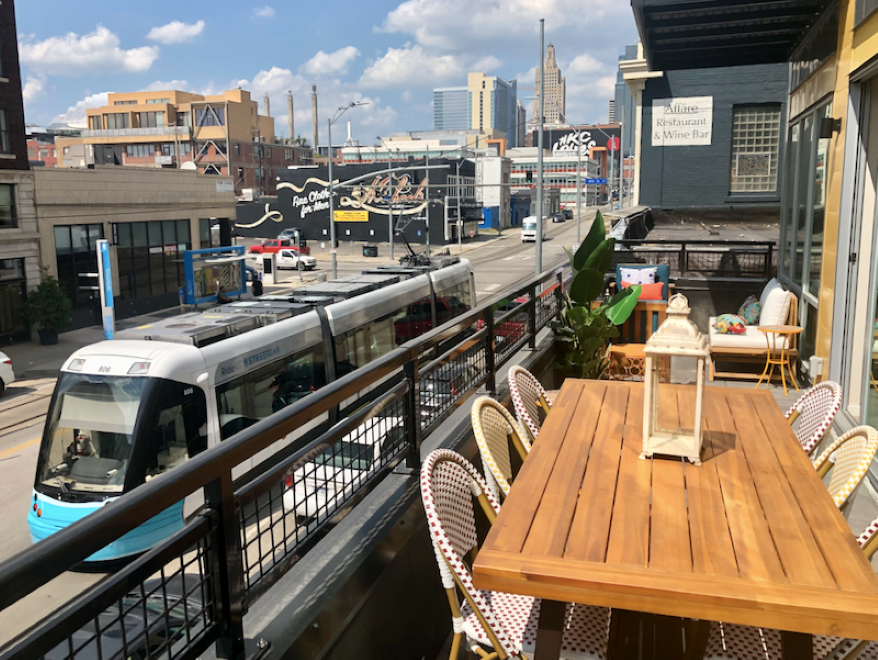 The introduction of the streetcar is one reason why more people like living downtown. The new City Club Apartment development is right on the line.