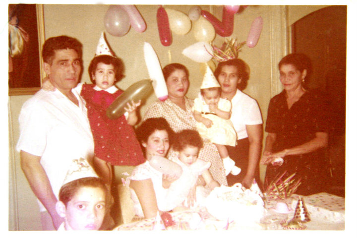 Joann Quiñones and family during a birthday party. (Contributed)