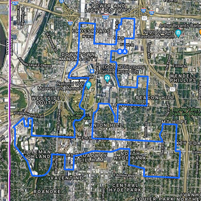 The winding route driven by the Cleotis Wilder snaked through a variety of Kansas City neighborhoods.