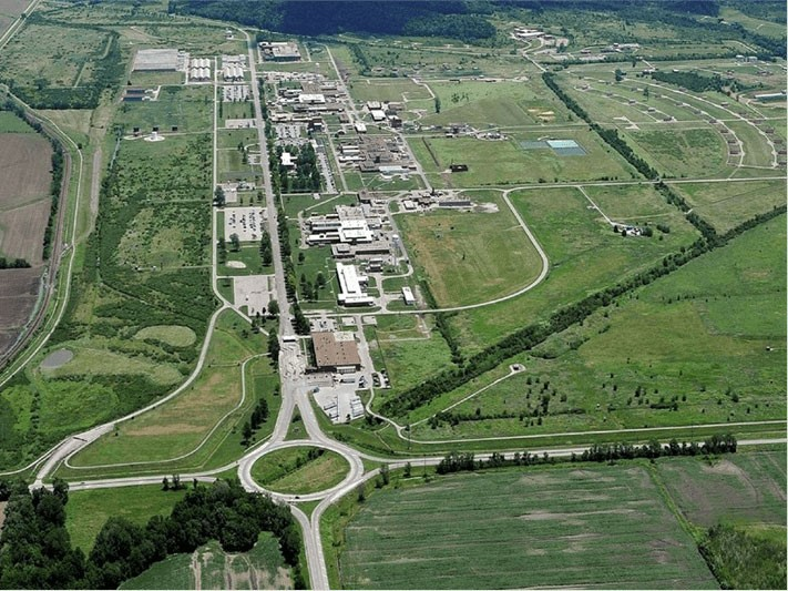 An aerial view of the Lake City Army Ammunition Plant in Independence, which sprawls across almost 4,000 acres.