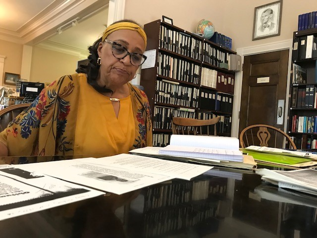 Cecelia Robinson. a member of Clay County African American Legacy Inc., has been researching Clay County families for the planned Liberty African American Legacy Memorial, which seeks to honor the more than 700 area Black residents buried in unmarked graves in a Liberty cemetery.