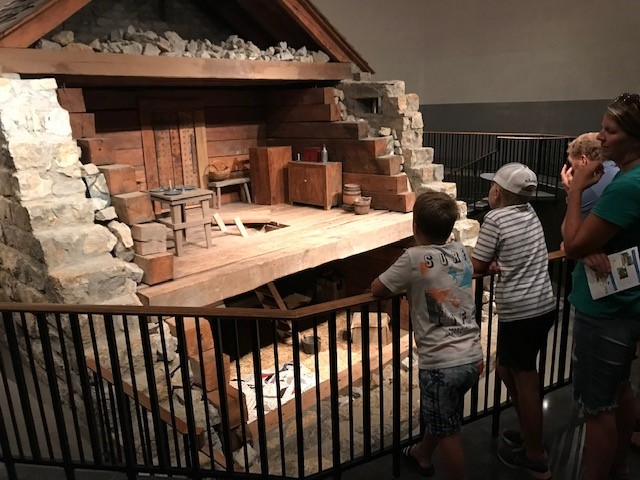 Visitors to the Historic Liberty Jail in Liberty can view a cutaway reconstruction of the lock-up where Mormon prophet Joseph Smith, Jr. was incarcerated during the late 1830s. Many western Missouri residents were suspicious of the Mormons for their anti-slavery sentiments.