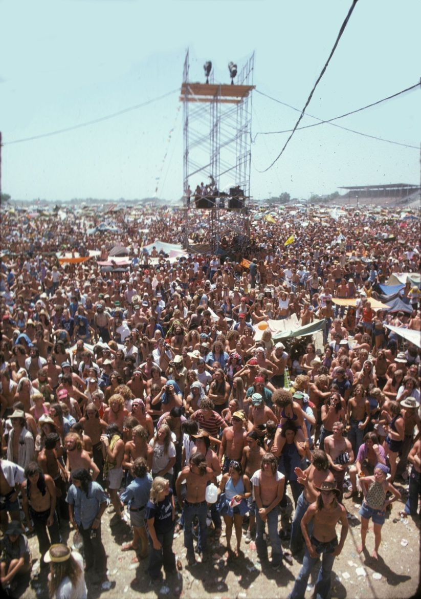 A shot of the crowd at the Missouri State Fairgrounds in Sedalia, Missouri.