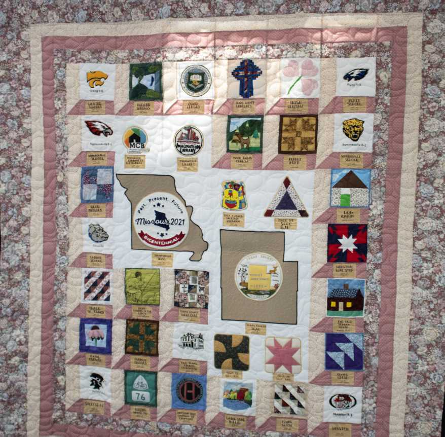 Texas (shown), Ray, Phelps and St. Charles counties took to the project like thread to a bobbin and made entire quilts to represent their counties.