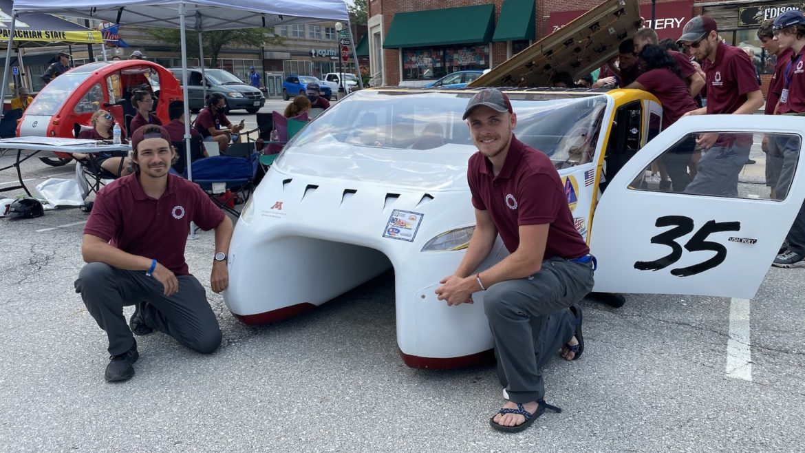 Nick Kopolovic (left) participates in his final American Solar Challenge this week.