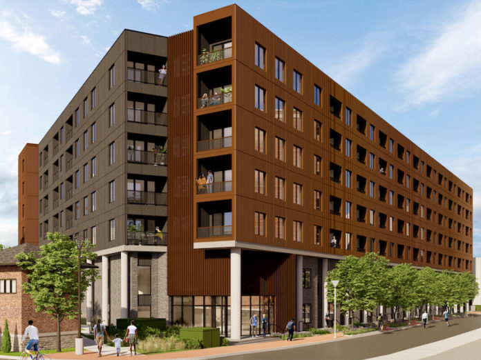 The 193-unit Tracks apartment project is expected to break ground in the Freight House District by the end of the year.