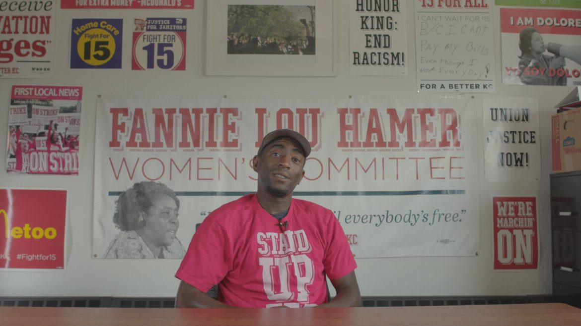 """Terrence Wise is a leader in the """"Fight for $15,"""" a movement that advocates raising the minimum wage to $15 an hour."""