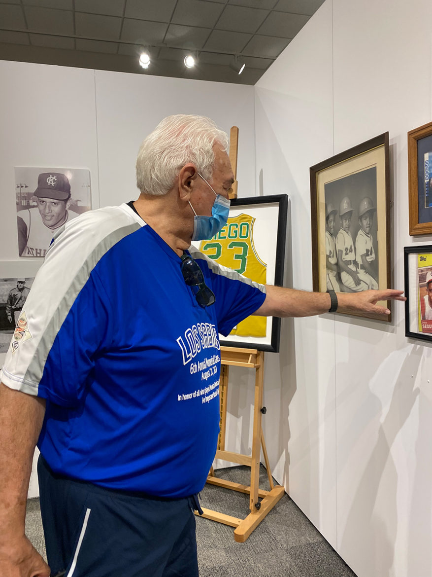Gene Chavez, a historian at the University of Missouri - Kansas City, has spent years collecting artifacts and oral histories to keep the stories of Midwestern Latino baseball stars alive. (Vicky Diaz-Camacho | Flatland)