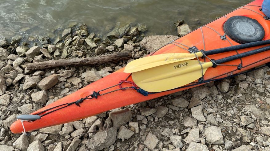 Graham Jordison is making the 2,341-mile kayak journey completely alone. He relies on River Angels volunteers for occasional lodging, food and showers.