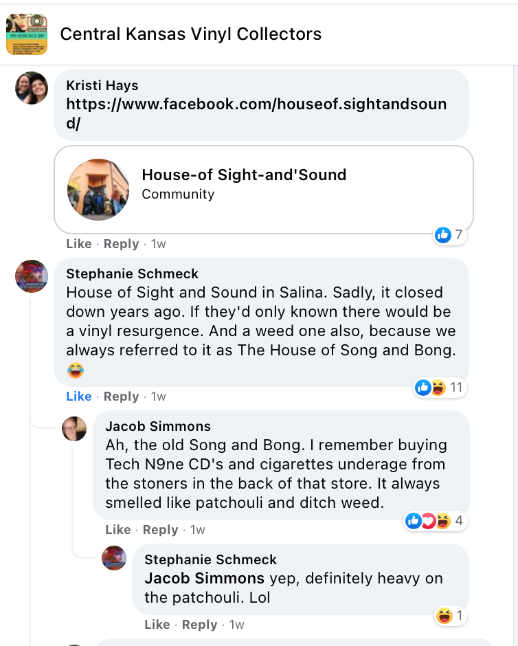 Members of the Central Kansas Vinyl Collectors group on Facebook recall House of Sight and Sound.