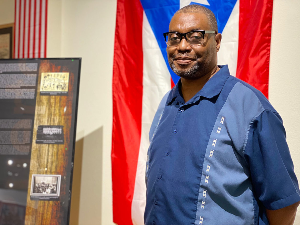 Raymond Doswell, curator and vice president of the Negro Leagues Baseball Museum. (Vicky Diaz-Camacho | Flatland)