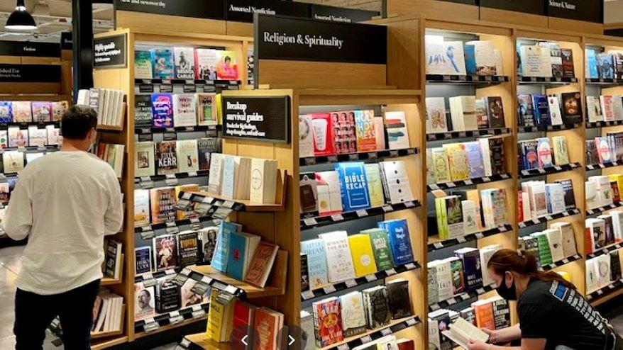 Amazon also operates bookstores around the country.