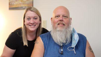 Myranda Agnew and Kevin Hawkins at the Community of Hope in Leavenworth